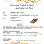58th Annual Indian Foods Dinner Salamanca
