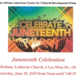Juneteenth Celebration 2019 in Olean