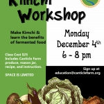 Kimchi Workshop at Canticle Farm
