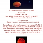 Mars Camp at the Dresser Rand Challenger Center 2019