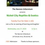 Nickel City Reptiles at Nannen Arboretum