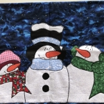 Snowman Door Hanging Quilting Project with Leon Historical Society