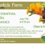 Essential Oils Basics at Canticle Farm