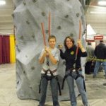 Rock climbing wall at Olean Sports & Outdoor Show