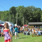 Vendors and pavilion at 2010 OnoFest