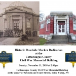 2018 Historic Marker Dedication Catt Co Civil War Memorial Building