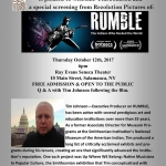 RUMBLE presented at the Ray Evans Seneca Theater
