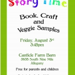 Story Time at Canticle Farm August 2018