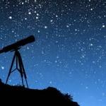 telescope in the night sky