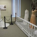 Display of old Wedding gowns at the Cattaraugus County Museum