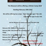 Winter Camp at the Seneca Museum