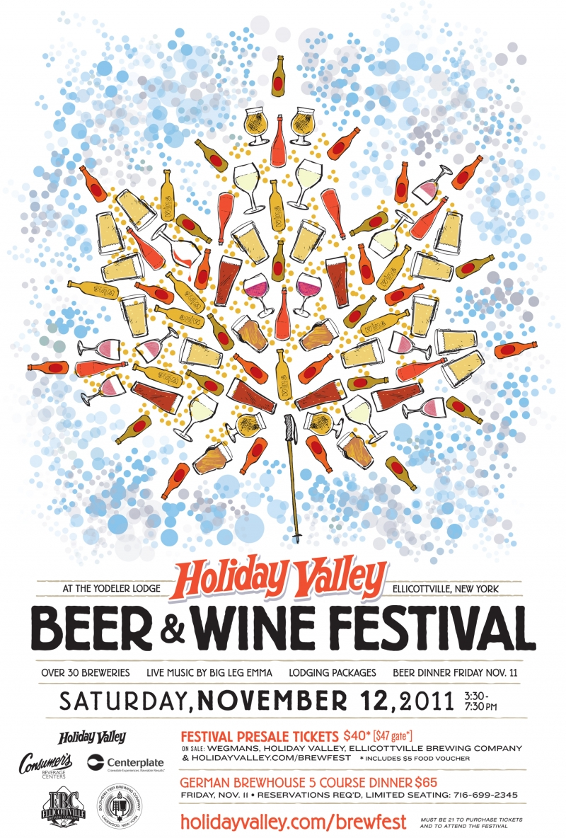 Preview of poster for Holiday Valley's 2011 Beer & Wine Festival