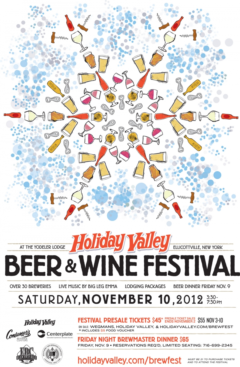 Poster for Holiday Valley's 2012 Beer & Wine Festival