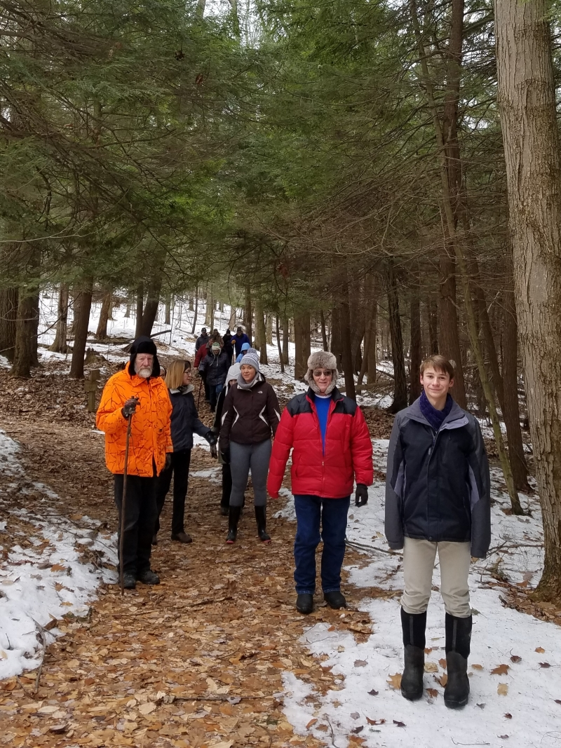 First Day Hike 2020 at Pfeiffer Nature Center