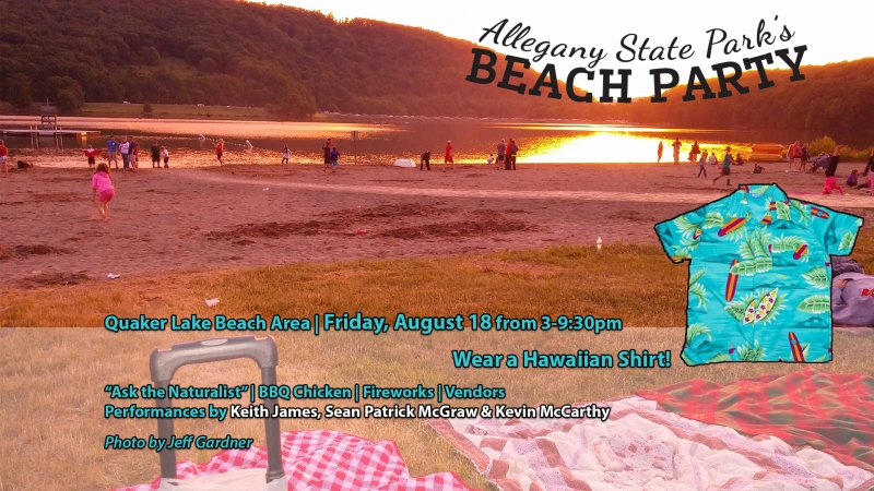 2017 Family Beach Party on Quaker Lake at Allegany State Park