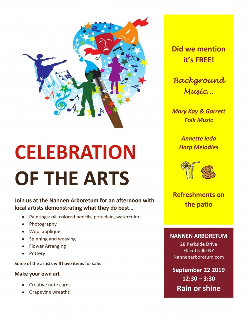 Flyer for Arts Celebration at Nannen Arboretum