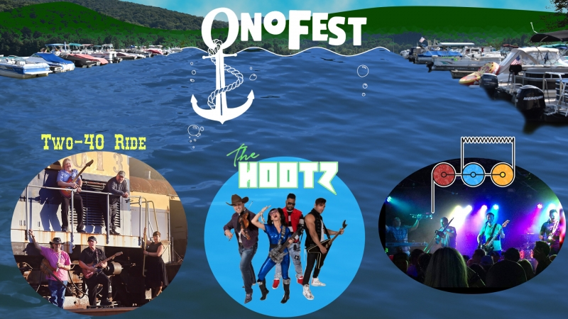 OnoFest banner for July 24, 2021 Two40 Ride, the Hootz and the Porcelain