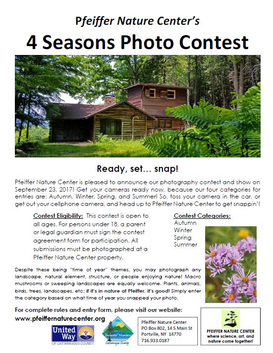 Photo Contest Pfeiffer Nature Center