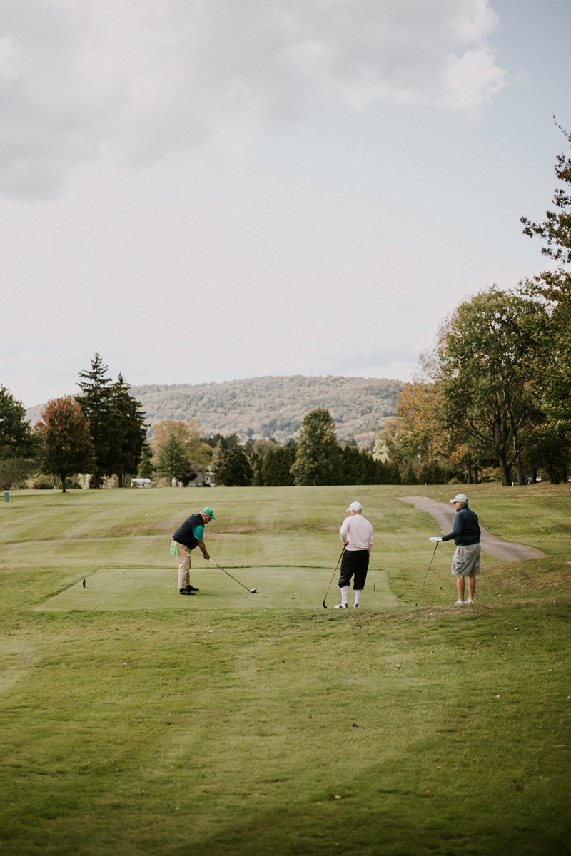 Golfers enjoying the Barltett Course