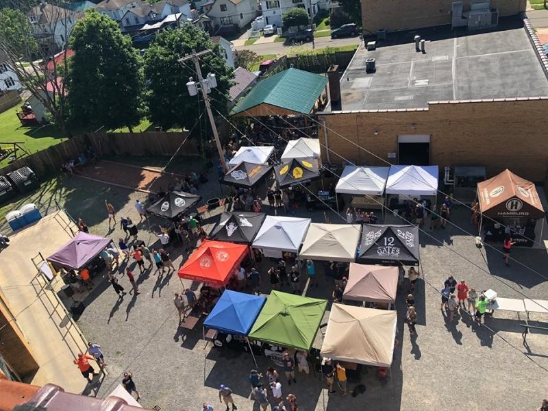 Vendors at Four Mile Brewing