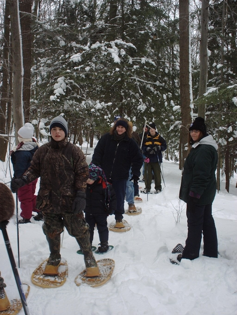 Snowshoeing the trails at Pfeiffer Nature Center