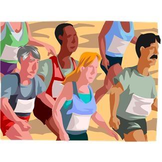 jogging clip art