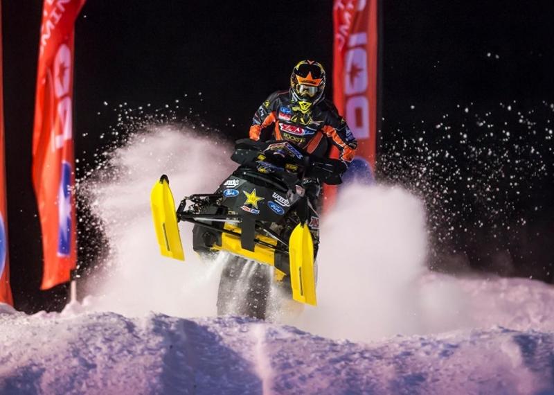 Racer Tim Tremblay courtesy of AMSOIL at the Seneca Allegany Casino