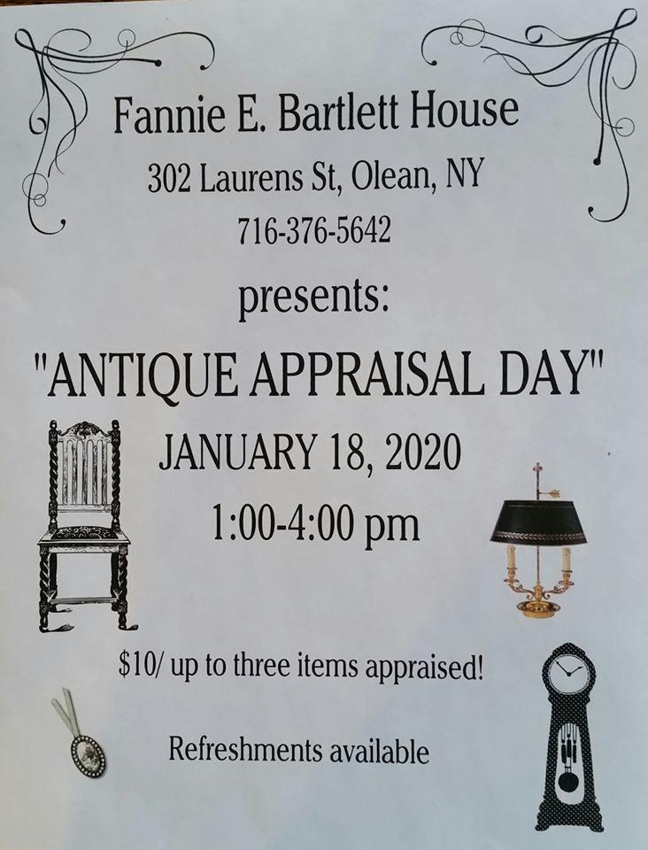 Antique Appraisal Flyer for Bartlett House