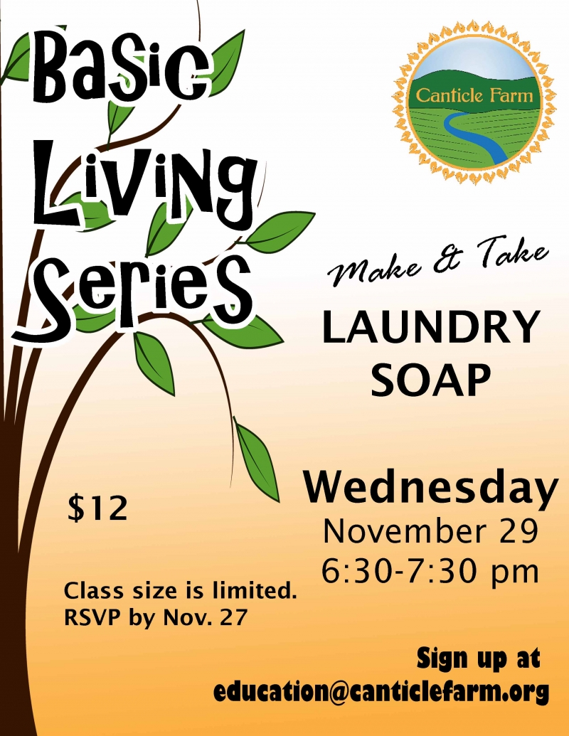 Make your own laundry soap at Canticle Farm