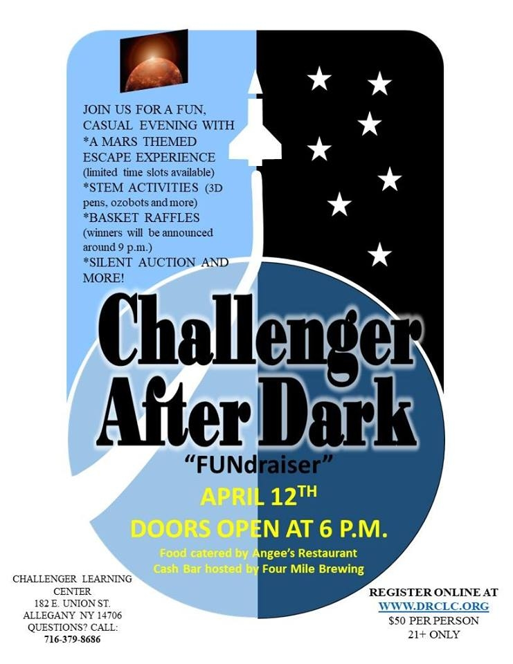Challenger after Dark event at the Challenger Learning Center