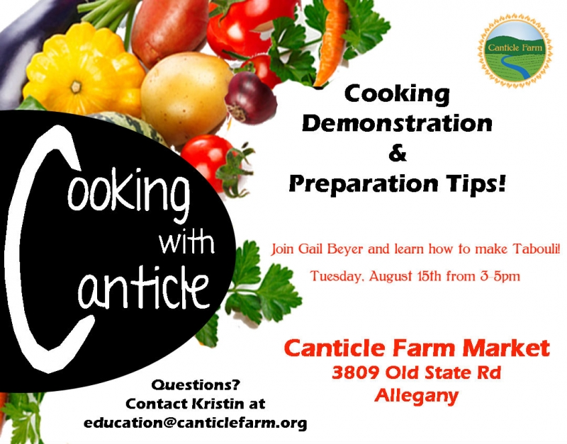 Cooking at Canticle Farm