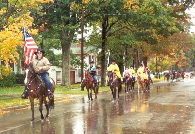 Rainy parade