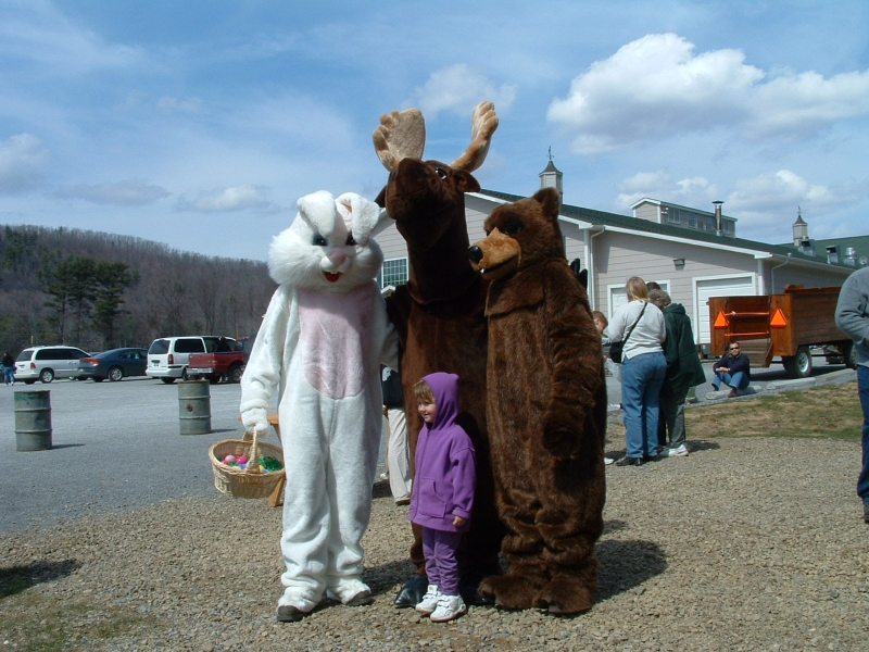 Easter Bunny and Egg Hunt at Sprague's Maple Farms