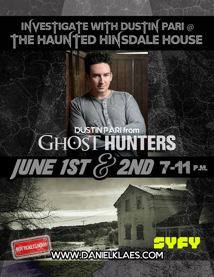Dustin Pari at the Haunted Hinsdale House