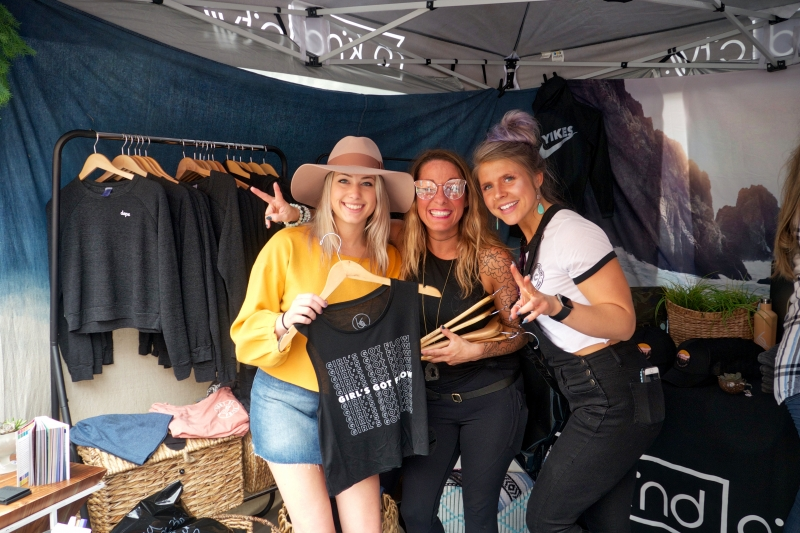 Girls Shopping at an event in Ellicottville