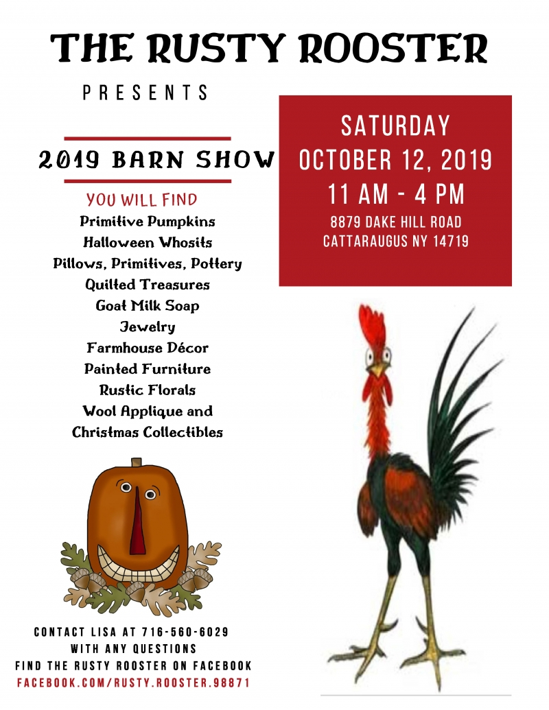 Poster for The Rusty Rooster Barnshow event
