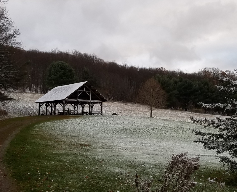 First Snow at Pfeiffer Nature Center
