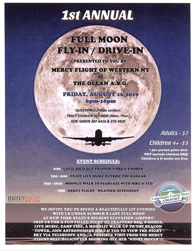 Full Moon Fly-In Drive-In Olean Airport