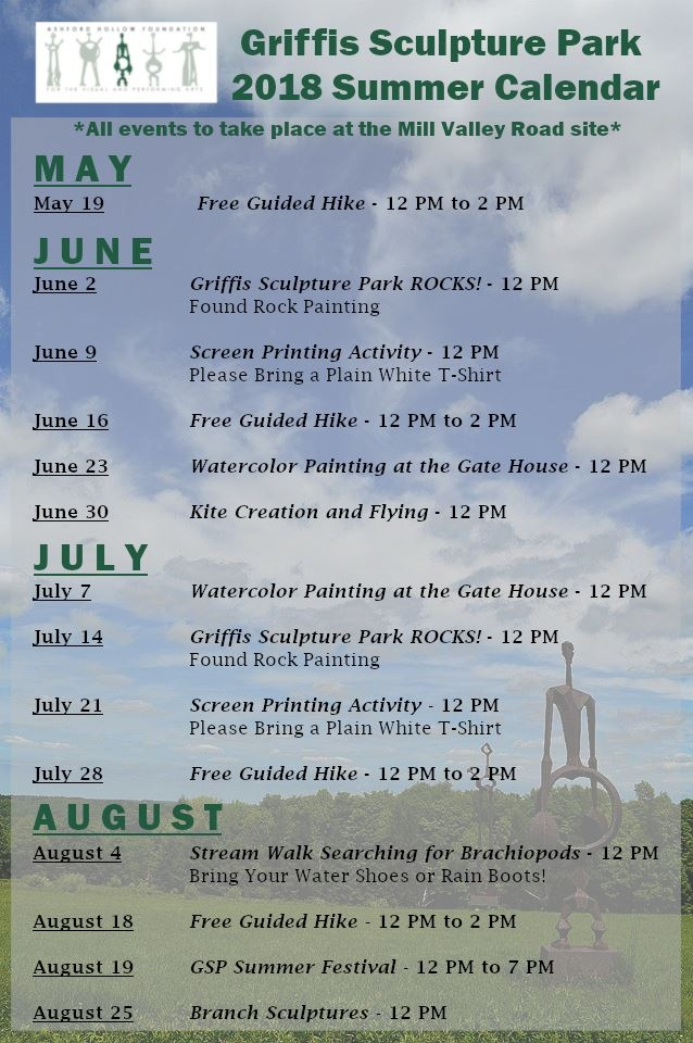 Griffis Sculpture Park Saturday activities schedule