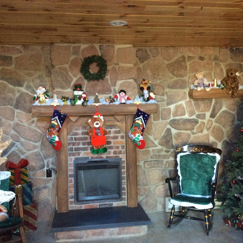 Fireplace in Allegany's Santa's House