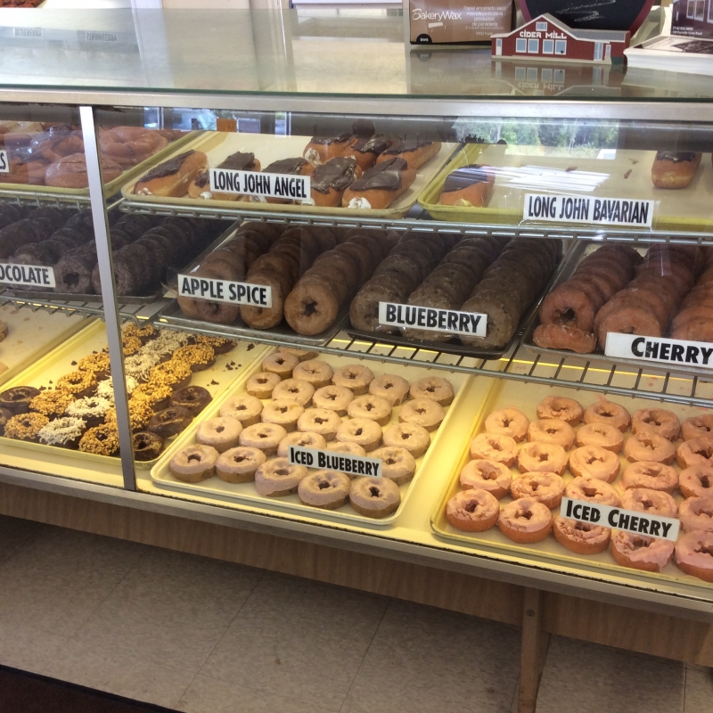 Doughnuts at Cummins Cider Mill