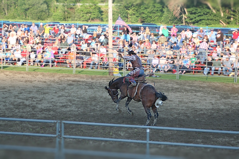 Bronco Riding at the 2015 Ellicottville Championship Rodeo