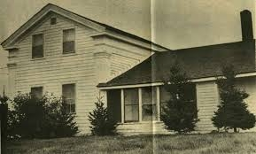 Old picture of the haunted house in Hinsdale, NY