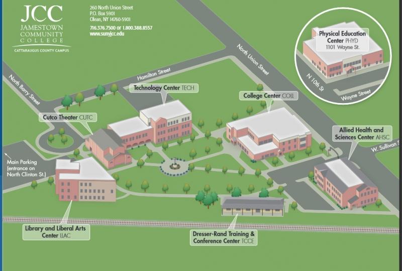 Jamestown Community College Map Creativehobby Store
