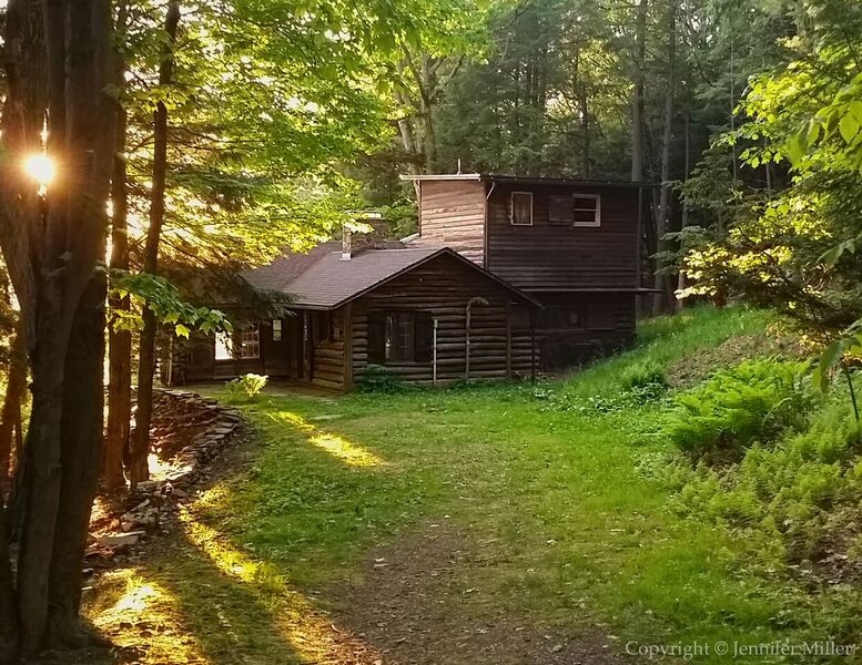 Sunset at the Historic Cabin at Pfeifer Nature Center