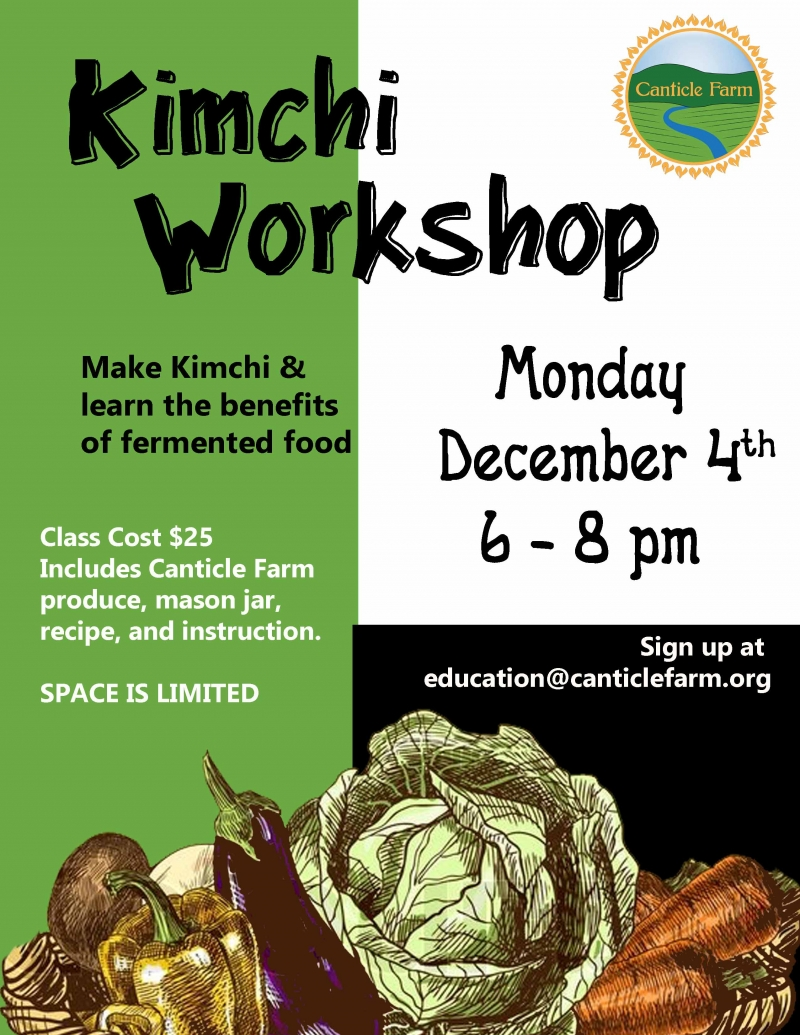 Kimchi Workshop at Canticle Farm
