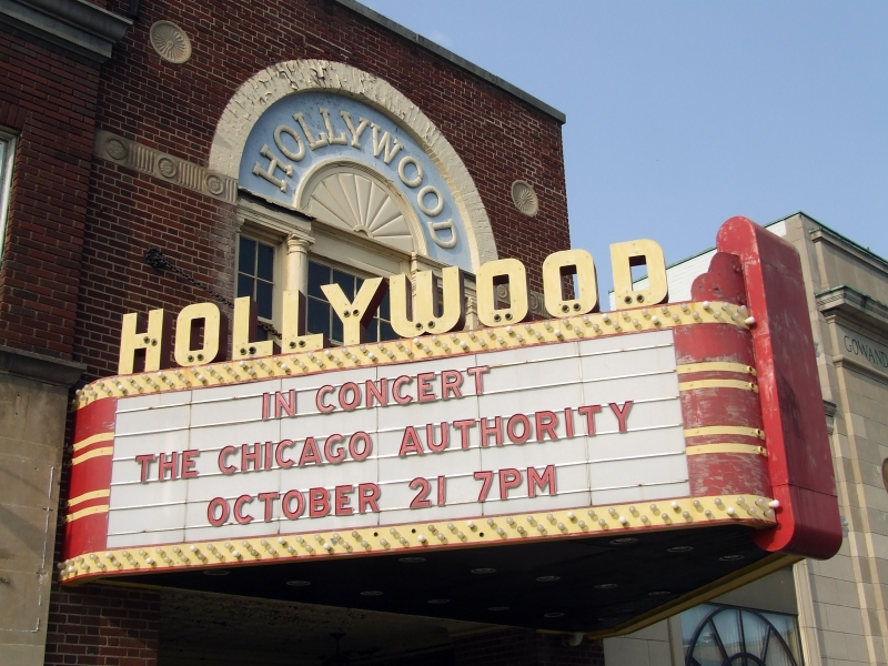 Marquee at the Gowanda Historic Hollywood Theater