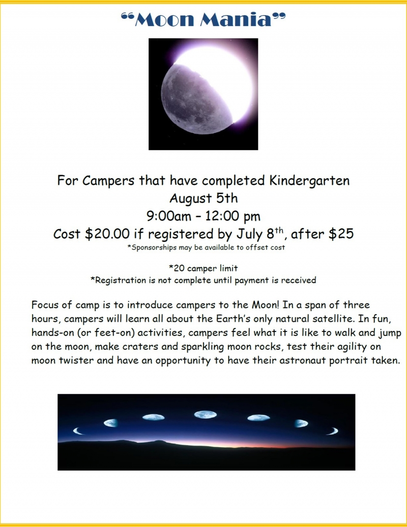 Moon Camp at Dresser Rand Challenger Learning Center 2019