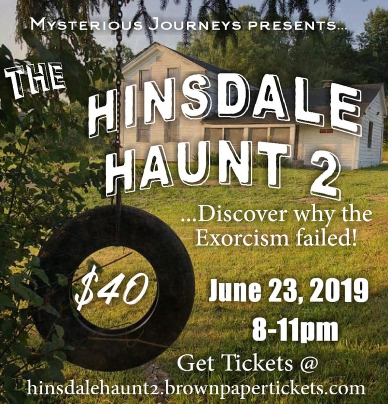 Mysterious Journeys poster for Haunted Hinsdale House