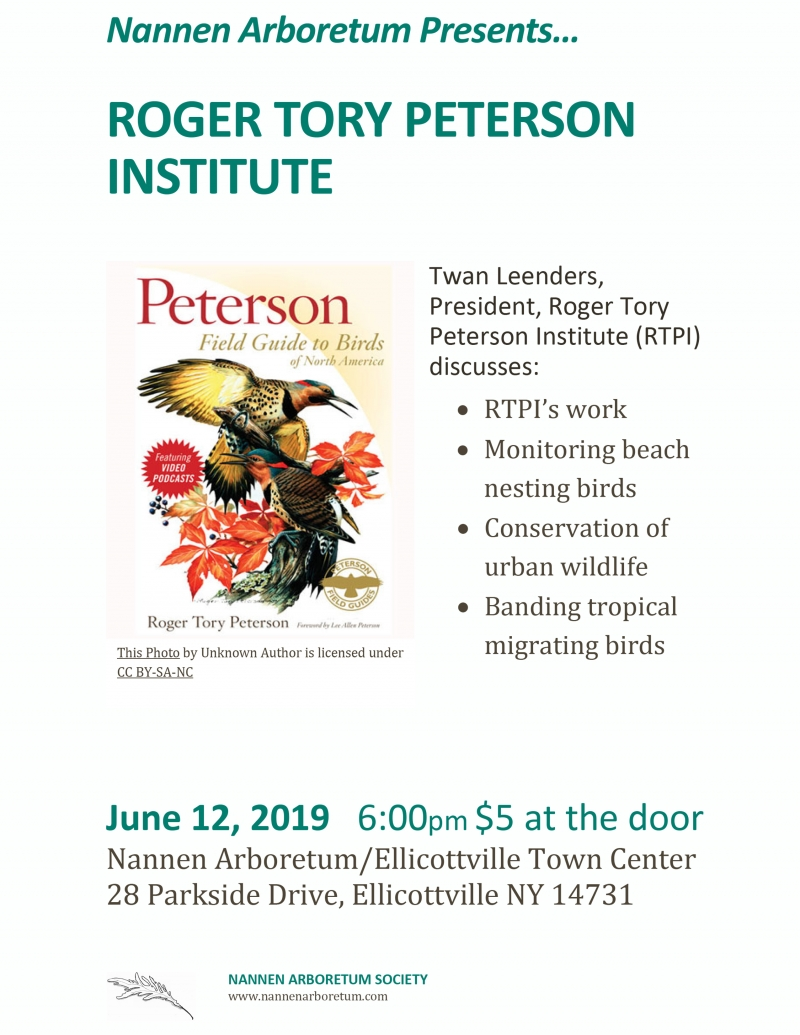 Flyer for RTP President talk at Nannen Arboretum